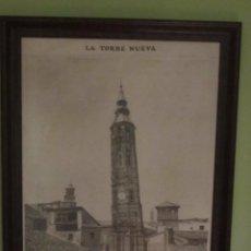 Postales: LA TORRE NUEVA DE ZARAGOZA, GRABADO CON MARCO. Lote 84357232