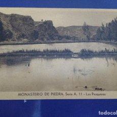 Postales: POSTAL MONASTERIO DE PIEDRA, ZARAGOZA, LAS PESQUERAS, HELIOTIPIA ARTISTICA ESPAÑOLA. Lote 84755400