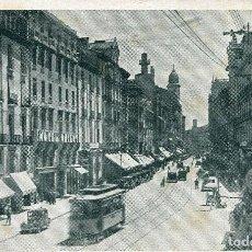 Postales: ZARAGOZA-CALLE DEL COSO-TRANVÍAS -HOTEL ORIENT-FOTO LUKER- RARA. Lote 86521804