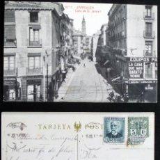 Postales: ZARAGOZA, CALLE DE D. JAIME I, POSTAL CIRCULADA DEL AÑO 1932.. Lote 87047712
