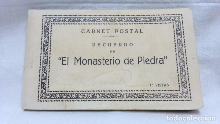 ALBUM COMPLETO 15 TARJETAS POSTALES, RECUERDO DE - EL MONASTERIO DE PIEDRA -. M. ARRIBAS (Postales - España - Aragón Moderna (desde 1.940))