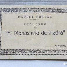 Postales: ALBUM COMPLETO 15 TARJETAS POSTALES, RECUERDO DE - EL MONASTERIO DE PIEDRA -. M. ARRIBAS. Lote 87218944