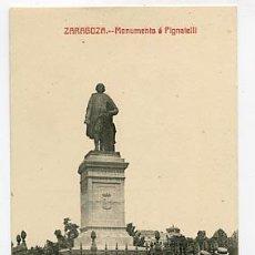 Postales: ZARAGOZA MONUMENTO A PIGNATELLI FOTOTIPIA CASTAÑEIRA Y ALVAREZ. SIN CIRCULAR. Lote 87540212