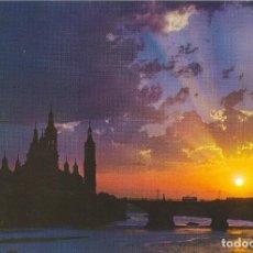 Postales: VISTA NOCTURNA DEL PILAR Y DEL EBRO. ZARAGOZA. Lote 87540736