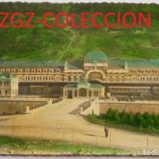 Postales: POSTAL - CANFRANC - ENTRADA A LA ESTACIÓN - ED. ARRIBAS - COLOREADA - AÑO 1952. Lote 87786168