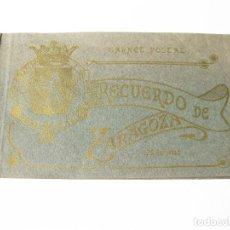 Postales: PASTAS DE LA SERIE DE 20 POSTALES RECUERDO DE ZARAGOZA. CARNET POSTAL. Lote 87912808