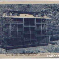 Postales: POSTAL PUBLICITARIA PANTICOSA SANATORIO LA FACHADA VISTA INVIERNO NIEVE HUESCA. Lote 89042712