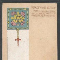 Postales: POSTALES ANALES DEL PILAR - EXPOSICION MARIANA - BANDERA DE NUESTRA SEÑORA DEL ROSARIO - P21226. Lote 89198932