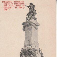 Postales: Nº 31537 POSTAL MONUMENTO LOS SITIOS DE ZARAGOZA. Lote 89605000