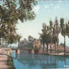 Postales: Nº 31535 POSTAL ZARAGOZA PURGER PUENTE DEL CANAL IMPERIAL. Lote 89605596