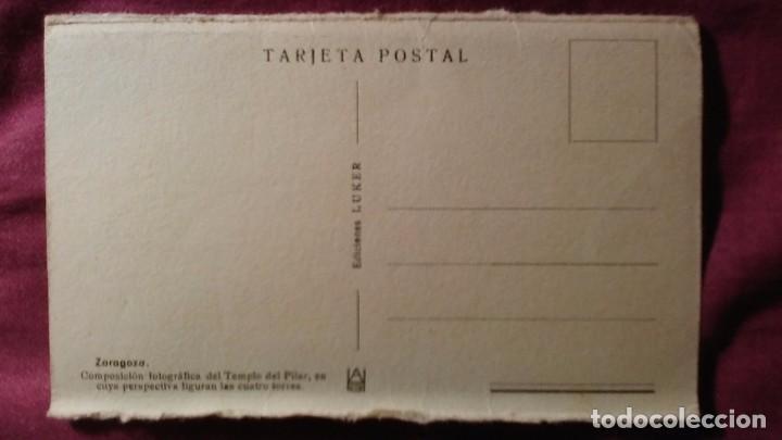 Postales: Zaragoza - Moderna colección gráfica recuerdo de la Santísima Virgen del Pilar y su Basílica - Foto 2 - 91515425