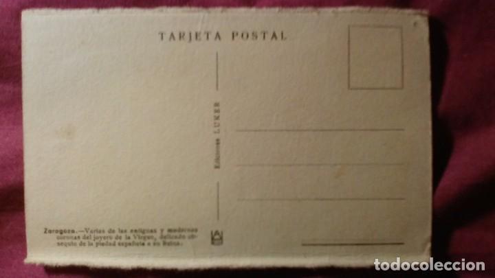 Postales: Zaragoza - Moderna colección gráfica recuerdo de la Santísima Virgen del Pilar y su Basílica - Foto 2 - 91515430