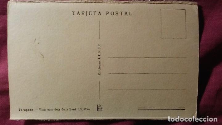 Postales: Zaragoza - Moderna colección gráfica recuerdo de la Santísima Virgen del Pilar y su Basílica - Foto 2 - 91515435
