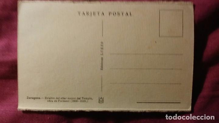 Postales: Zaragoza - Moderna colección gráfica recuerdo de la Santísima Virgen del Pilar y su Basílica - Foto 2 - 91515470
