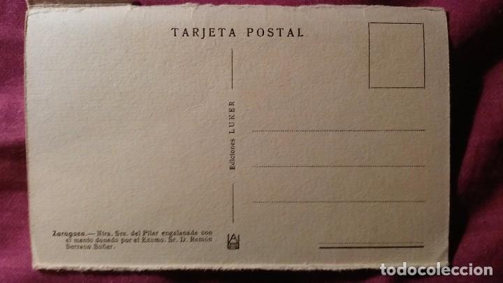 Postales: Zaragoza - Moderna colección gráfica recuerdo de la Santísima Virgen del Pilar y su Basílica - Foto 2 - 91515475