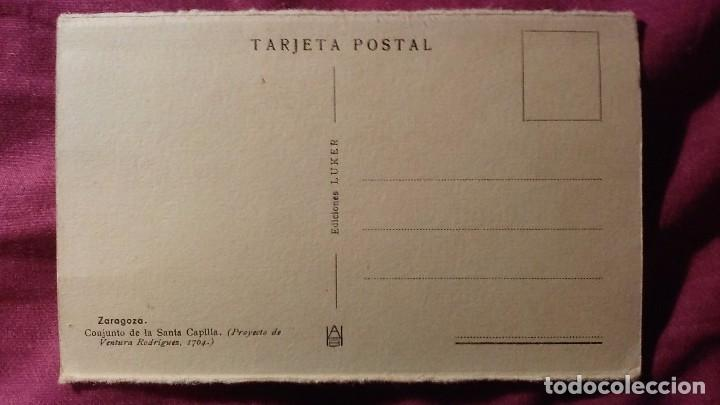 Postales: Zaragoza - Moderna colección gráfica recuerdo de la Santísima Virgen del Pilar y su Basílica - Foto 2 - 91515495