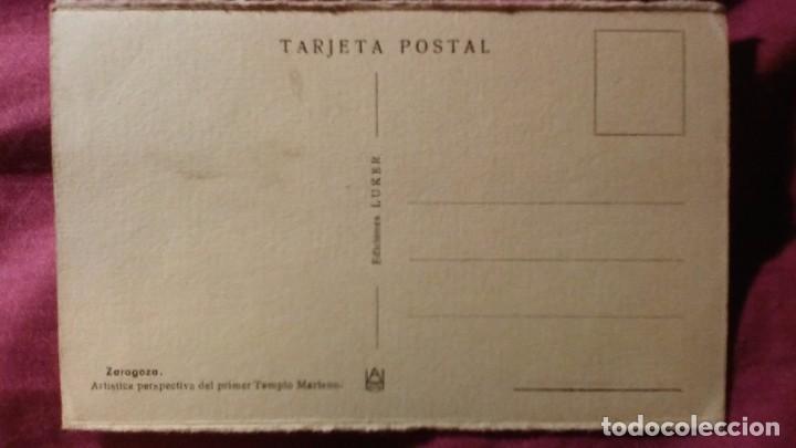 Postales: Zaragoza - Moderna colección gráfica recuerdo de la Santísima Virgen del Pilar y su Basílica - Foto 2 - 91515510