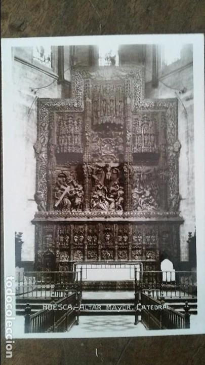 HUESCA - ALTAR MAYOR. CATEDAL (Postales - España - Aragón Antigua (hasta 1939))