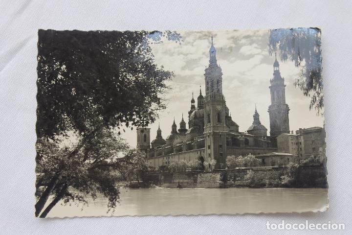 POSTAL, ZARAGOZA, BASILICA DEL PILAR, TROQUELADA, DIRIGIDA A TORREDENBARRA (Postales - España - Aragón Moderna (desde 1.940))