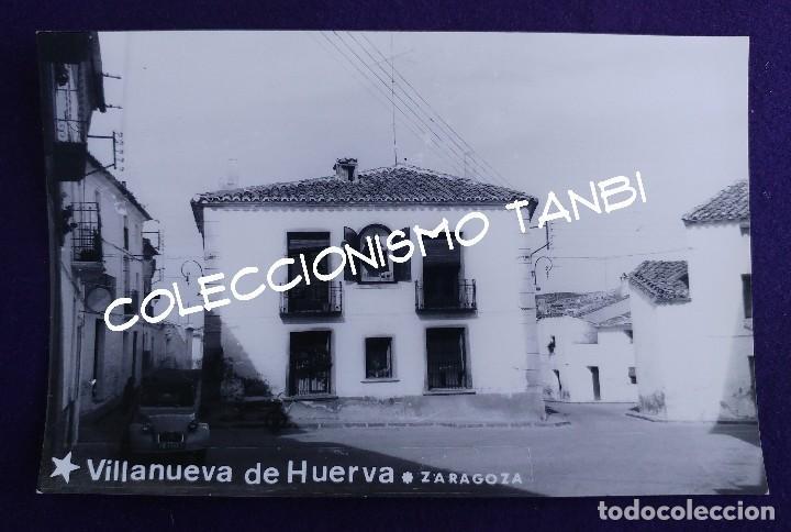 POSTAL DE VILLANUEVA DE HUERVA (ZARAGOZA). POSTAL FOTOGRAFICA. AÑOS 50- 60 (Postales - España - Aragón Moderna (desde 1.940))