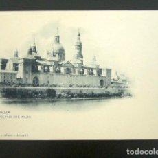 Postales: POSTAL ZARAGOZA. IGLESIA DEL PILAR. HAUSER Y MENET. PRIMERA EDICIÓN. . Lote 94112475