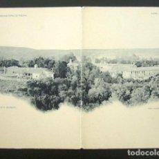 Postales: POSTAL ZARAGOZA DOBLE. MONASTERIO DE PIEDRA. VISTA GENERAL. LAURENT. . Lote 94115870
