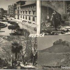 Cartoline: HUESCA, PLAZA DE NAVARRA, CASTILLO DE MONTEARAGON - EDICIONES SICILIA - ESCRITA. Lote 94306214