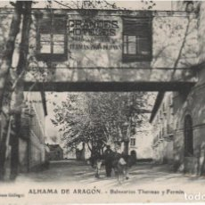 Postales: ZARAGOZA ALHAMA DE ARAGÓN BALNEARIO THERMAS Y FERMÍN. Lote 94327778
