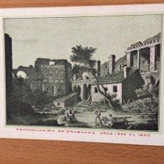 Postales: ANTIGUA POSTAL RUINAS DE ZARAGOZA.CELEBRARA CENTENARIO DE LOS SITIOS EN 1908.21. Lote 94507702