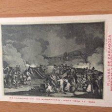Postales: ANTIGUA POSTAL RUINAS DE ZARAGOZA.CELEBRARA EL CENTENARIO DE LOS SITIOS 1908.PUERTA DEL CARMEN 18. Lote 94508355