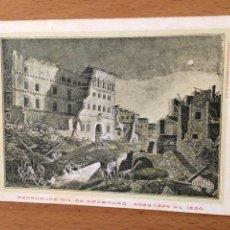 Postales: ANTIGUA POSTAL ZARAGOZA.CELEBRARA EL CENTENARIO DE LOS SITIOS 1908.RUINAS SEMINARIO 9. Lote 94509299