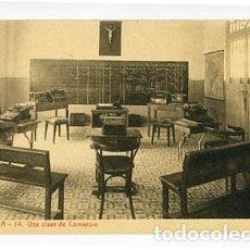 Postales: ZARAGOZA ESCUELAS PIAS. CLASE DE COMERCIO. FOTOTIPIA THOMAS. SIN CIRCULAR. Lote 95822083