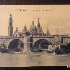 Postales: POSTAL ZARAGOZA, EL PILAR Y EL PUENTE. Lote 95913415