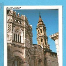 Postales: POSTAL DE ZARAGOZA TORRE Y CIMBORRIO DE LA CATEDRAL DE LA SEO Nº 30 EDITÓ SICILIA SIN CIRCULAR . Lote 96002459