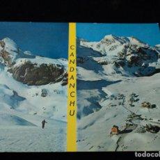 Postales: CANFRANC CANDANCHU LA ZAPATILLA CIRCULADA . Lote 97574647