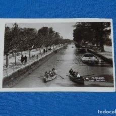 Postales: 40 ZARAGOZA - CANAL IMPERIAL , FOTOGRAFICA. Lote 97715399