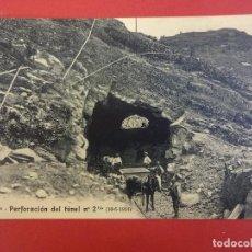 Postales: PERFORACION DEL TUNEL. VALLE DE BENASQUE. PIRINEOS DE HUESCA. POSTAL Nº 20 BIS. AÑO 1914. Lote 97872039