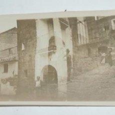 Postales: FOTOGRAFIA DEL PUEBLO DE LUNA, ZARAGOZA, AÑOS 20, MIDE 17,5 X 6,2 CMS.. Lote 98361975