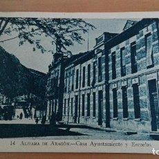 Postales: POSTAL ALHAMA DE ARAGON Nº 14 CASA AYUNTAMIENTO Y ESCUELAS. EDI: SOBRINO DE G. MAÑAS ZARAGOZA TERUEL. Lote 98809123