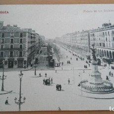 Postales: POSTAL ZARAGOZA Nº 27 - PASEO DE LA INDEPENDENCIA. FOTOTIPIA MADRIGUERA TERUEL HUESCA ARAGON. Lote 98809507