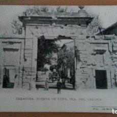 Postales: POSTAL ZARAGOZA Nº 11 - PUERTA DE NTRA SRA DEL CARMEN. FOTOTIPIA L. ESCOLA TERUEL HUESCA ARAGON. Lote 98810023