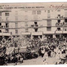 Postales: ZARAGOZA CALATAYUD PROCESION DEL CORPUS, PLAZA MERCADO ED V.A.M. Lote 98878775