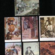 Postales: LOTE DE 9 POSTALES ILUSTRADAS DEL SITIO ZARAGOZA - APROX 1908 - EL TIO JORGE, PUERTA DEL CARMEN, MAN. Lote 99202563