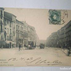 Postales: ZARAGOZA. EL COSO. CIRCULADA EN 1903. . Lote 100150551