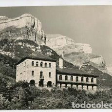 Postales: HUESCA VALLE DE ORDESA PARADOR Y REFUGIO. ED. L. MONTAÑES 8. CIRCULADA. Lote 100523087