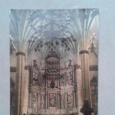 Postales: BARBASTRO. CATEDRAL. ALTAR MAYOR. FRANQUEADA EN EL AÑO 1963.. Lote 100716571