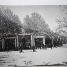 Postales: POSTAL HUESCA-ENTRADA AL PARQUE--CM. Lote 100757667