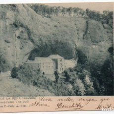 Postales: PS7774 SAN JUAN DE LA PEÑA 'EL MONASTERIO ANTIGUO'. F. ÁLVAREZ. CIRCULADA. 1902. Lote 100919447