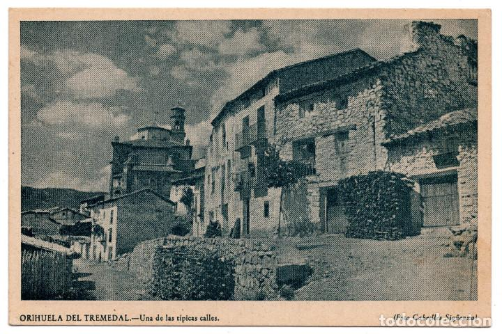 ORIHUELA DEL TREMENDAL.TERUEL.- UNA DE LAS TÍPICAS CALLES. FOTO CABRELLES SIGÜENZA (Postales - España - Aragón Antigua (hasta 1939))
