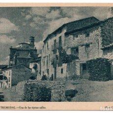 Postales: ORIHUELA DEL TREMENDAL.TERUEL.- UNA DE LAS TÍPICAS CALLES. FOTO CABRELLES SIGÜENZA. Lote 103131959